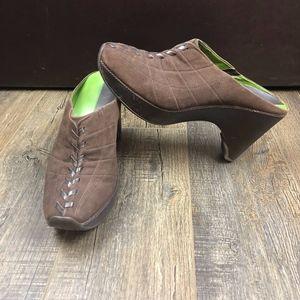 Nike Lab G Series Shoes   Brown Slip On Heels 9.5